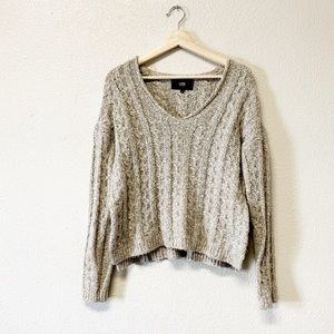 LINE Cropped Cable-knit Wool Blend Sweater
